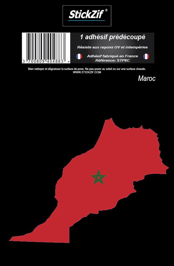 1 sticker carte maroc stickzif stp8c plaques d 39 immatriculation et stickers autocollant. Black Bedroom Furniture Sets. Home Design Ideas