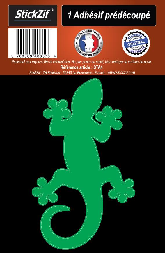 1 sticker l233zard vert
